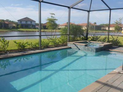Casa Napoletana with pool, lake & preserve view